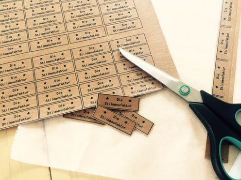 labels selber machen mit snap pap und t shirt transferfolie diestilmanufakturs webseite. Black Bedroom Furniture Sets. Home Design Ideas