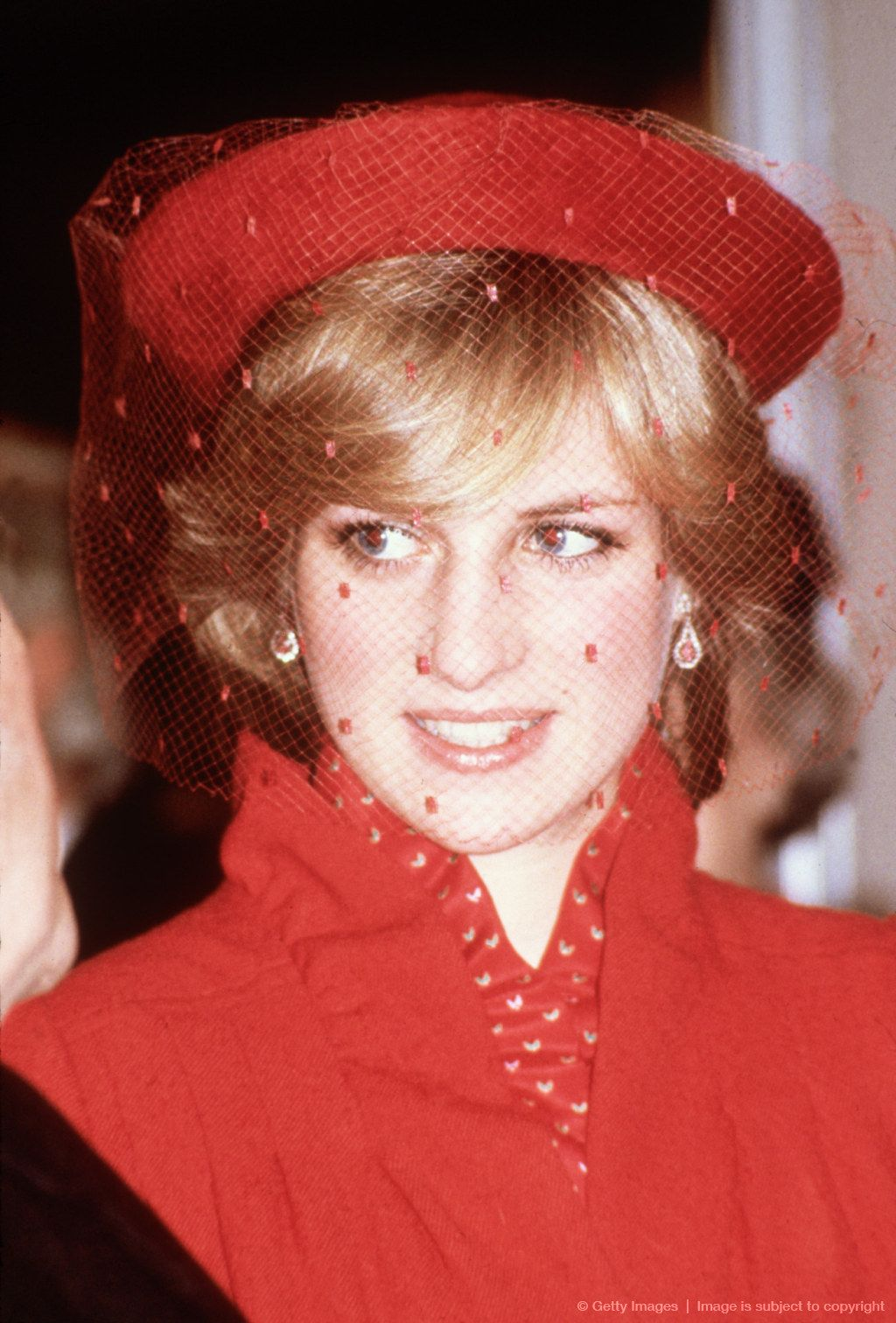 Image detail for -GUILDFORD - DECEMBER 21: Diana Princess of Wales during a visit to Guildford Cathedral on December 21,1981 in Guildford, Surrey.