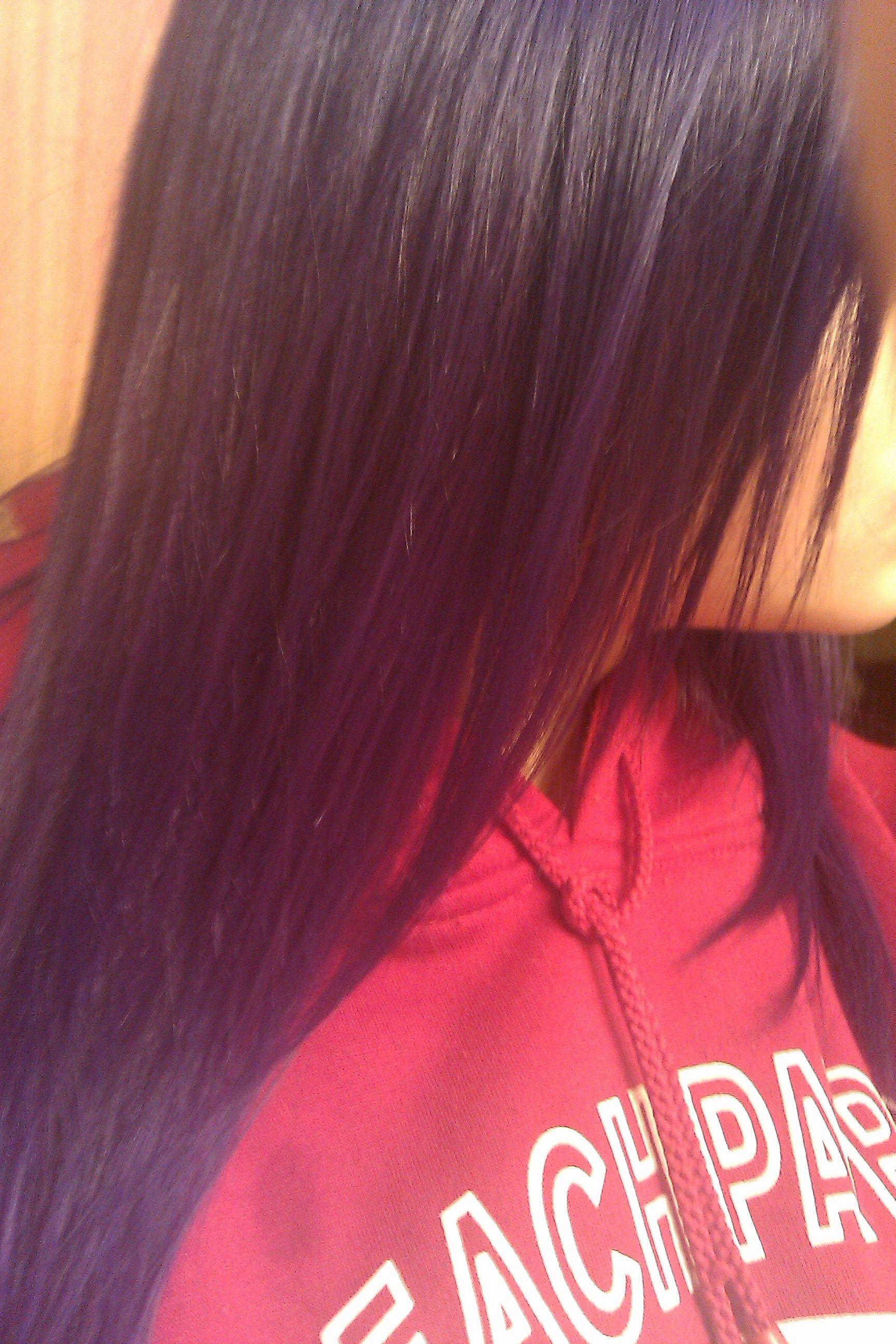 My hair when it was purple:)