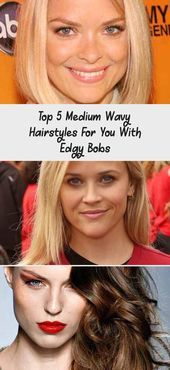 Top 5 Medium Wavy Hairstyles For You With Edgy Bobs - #Bobs #Edgy #Hairstyles #medium #top #Wavy #edgybob