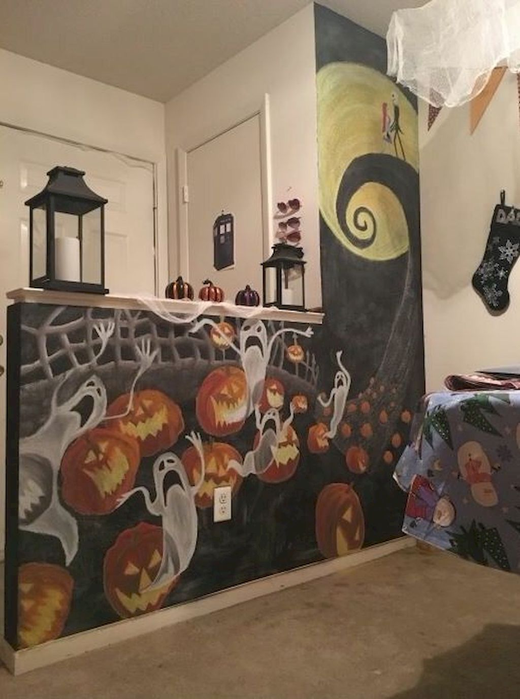 Awesome Excellent Christmas Craft Ideas For Your Living Room Https Hometoz Com Halloween Living Room Christmas Decorations Bedroom Nightmare Before Christmas
