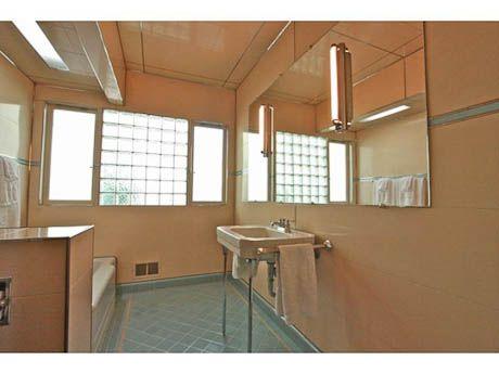 1948 Streamline Moderne Time Capsule House Portland Oregon Mid Century Bathroom Ceramic