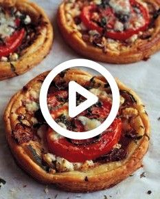 Cheese and Tomato tarts- fairly easy recipe with puff pastry from Barefoot ContessaGoat Cheese and Tomato tarts- fairly easy recipe with puff pastry from Barefoot Contessa