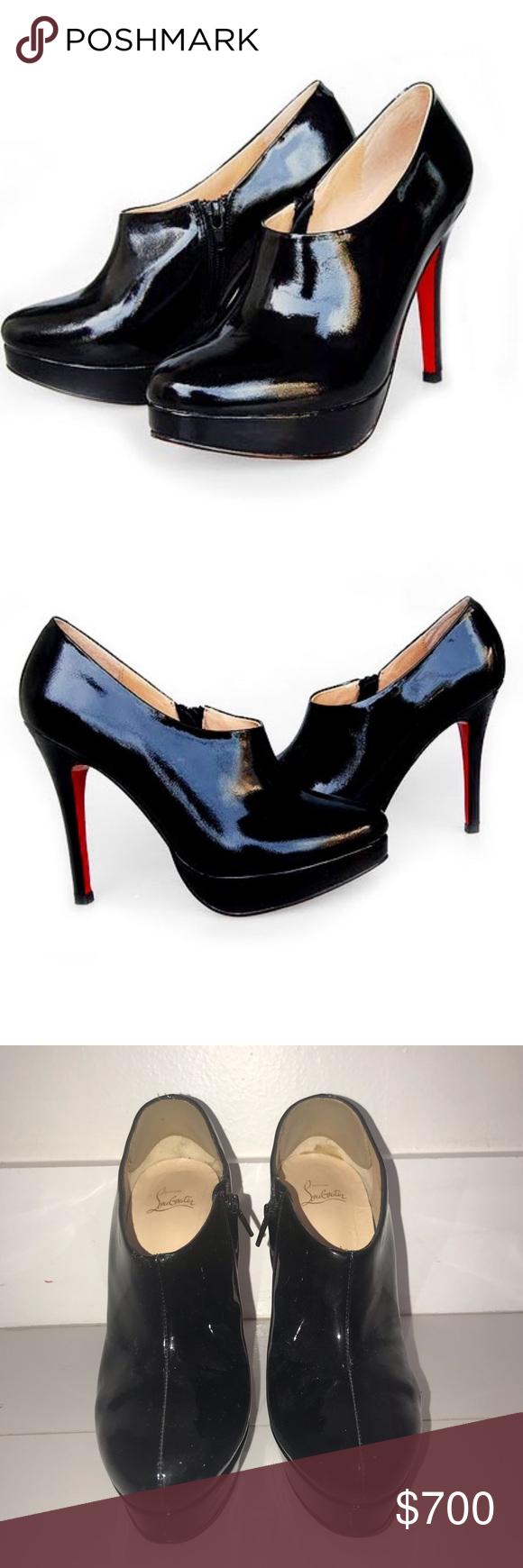 bb01b180643 Louboutins Black Ankle Boots