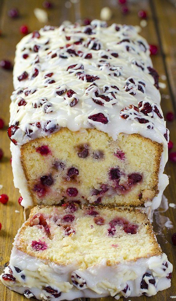 15 Christmas Cake Ideas For Pinterest Folks All About Christmas Cranberry Pound Cake Recipe Holiday Desserts Dessert Recipes