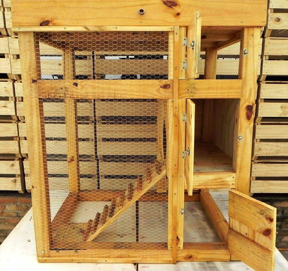 Voorkeur Totaalplaatje van zelfgebouwd konijnenhok van pallets | ideeën om #FC72
