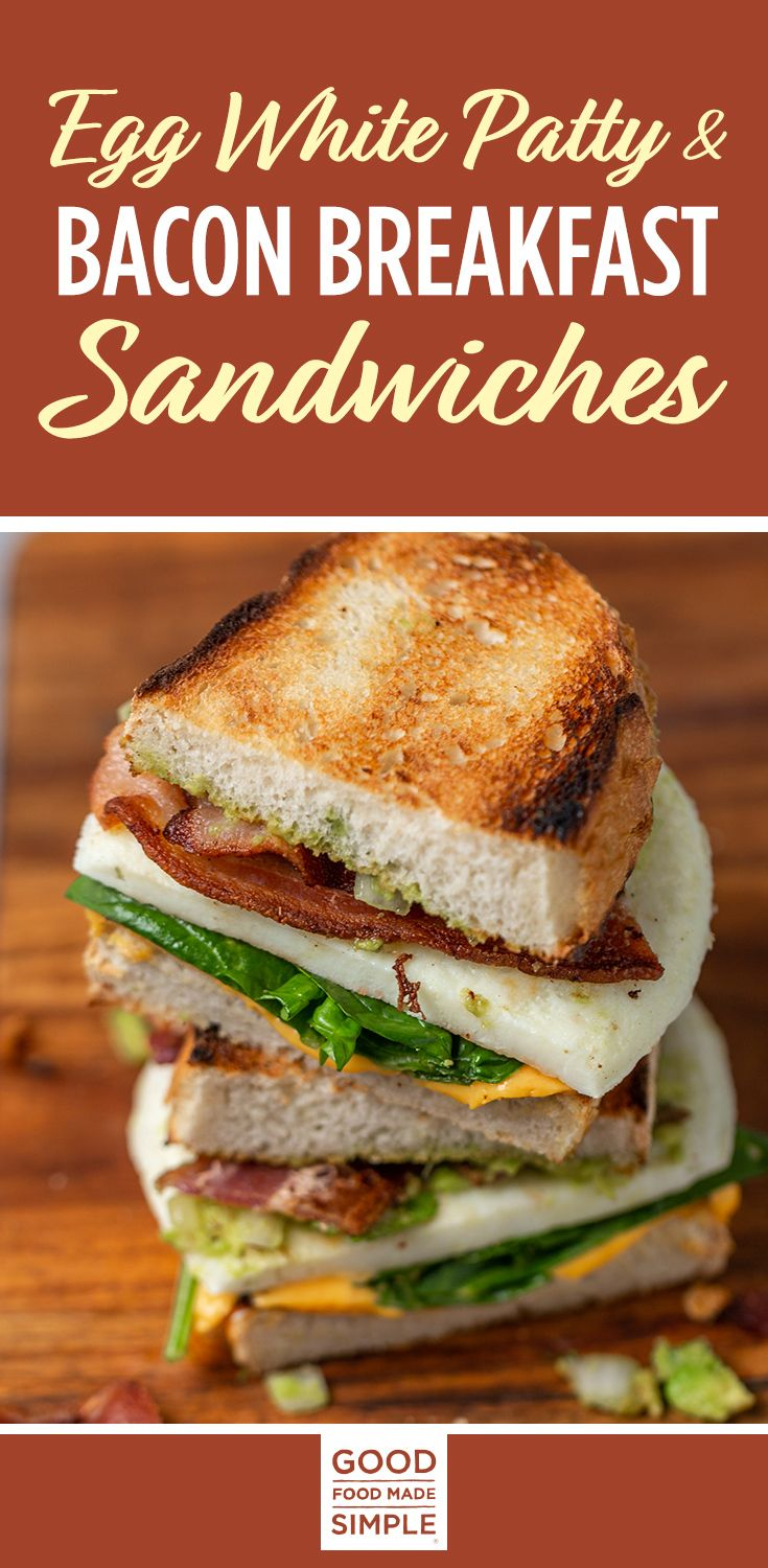 Egg White Patty & Bacon Breakfast Sandwiches images