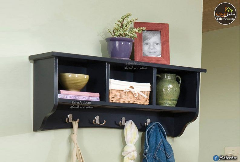 رف حائط مودرن متوسط علاقات و ديكور سفير ارت للديكور Wall Mounted Coat Rack Cottage Storage Cubby Storage
