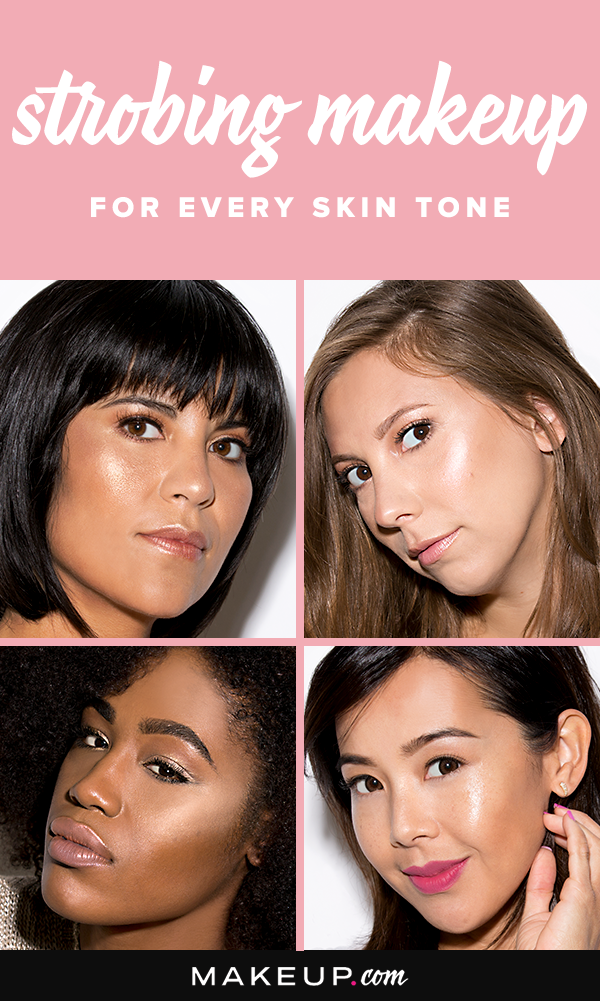 Strobing makes highlighter the star of your makeup routine. Here we tell you which strobing makeup to use for light, medium, olive and dark skin tones.