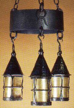 Irca 1920. These Lamps Are All Authentically Detailed In Forged Iron, And  Fire Burned