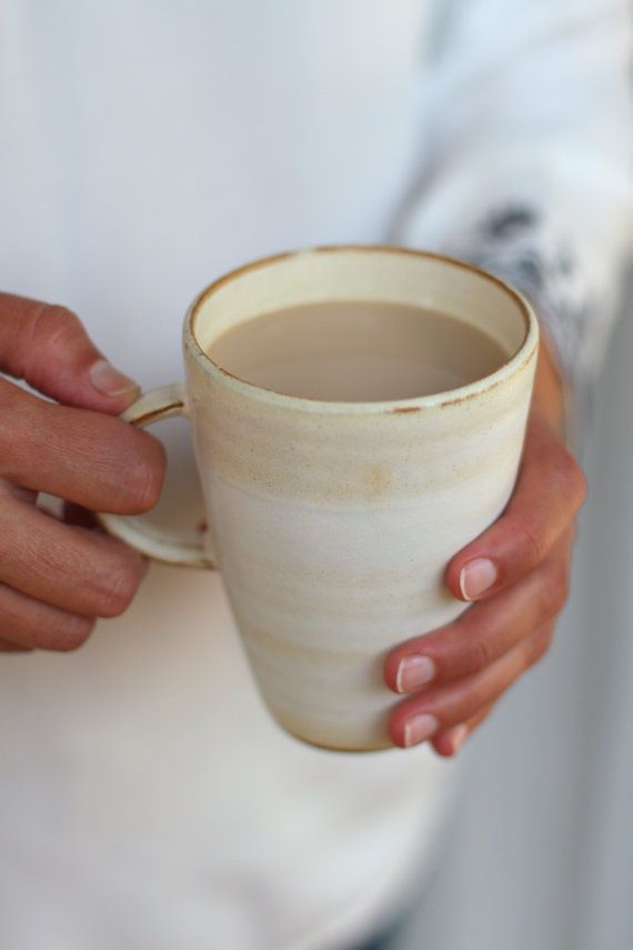 This Large Mug Is Great For Slow Coffee Drinkers Its Volume About 10 5 Oz 300ml And Due To The Nature Of Ceramics Will Keep