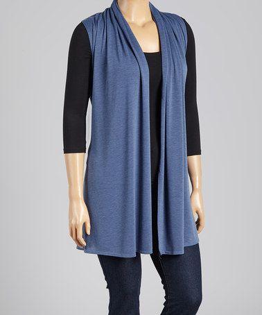 Look what I found on #zulily! Dusty Blue Vest - Plus #zulilyfinds