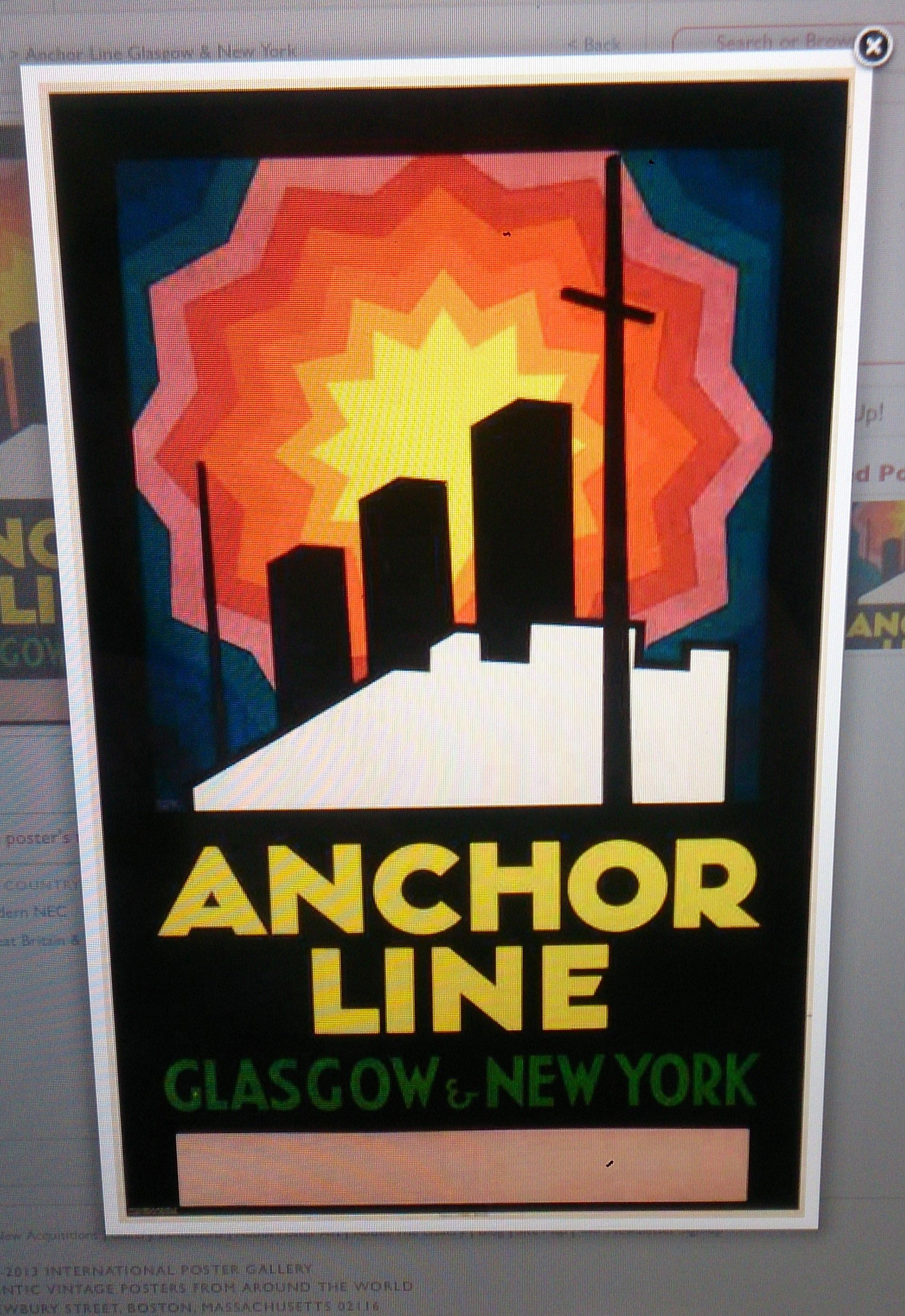 Original poster advertising the Glasgow based, Anchor Line ...