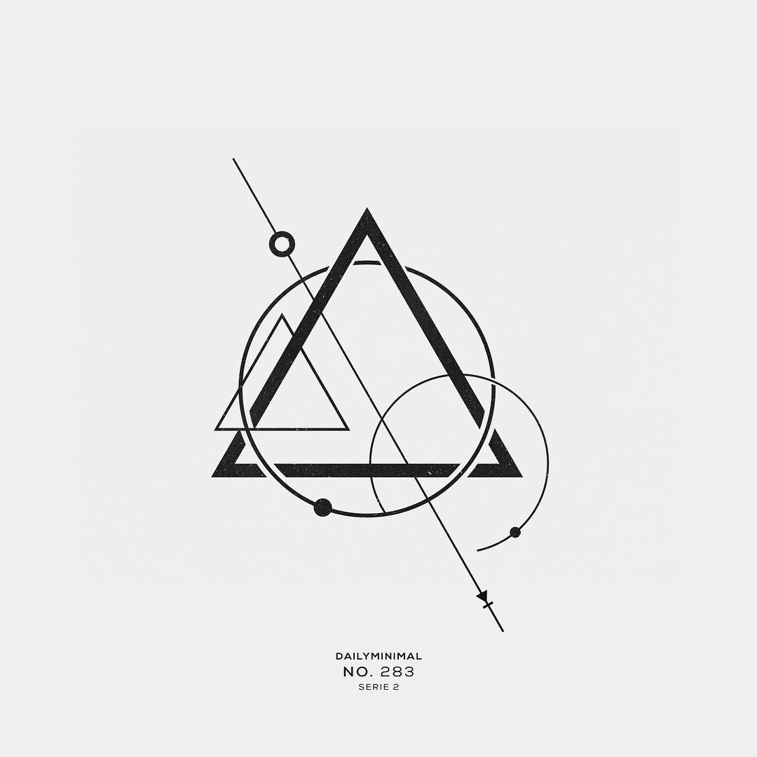 "DAILY MINIMAL on Instagram: ""No. 283 A new geometric design every day  #dailyminimal #minimal #tattoo #logo #design #geometry #graphic #inspiration #tattoos"""