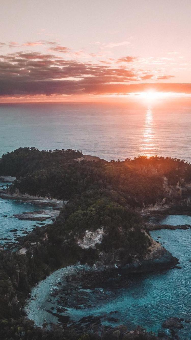 Ocean Pink Sunset Fotografii Prirody Priroda Fotografii