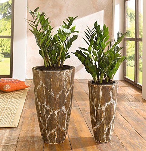 2er bertopf savanne blumentopf braun holz pflanzk bel blumenk bel pflanztopf binnen planten. Black Bedroom Furniture Sets. Home Design Ideas