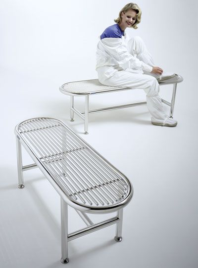 Class 1 Stainless Steel Gowning Benches Cleanroom