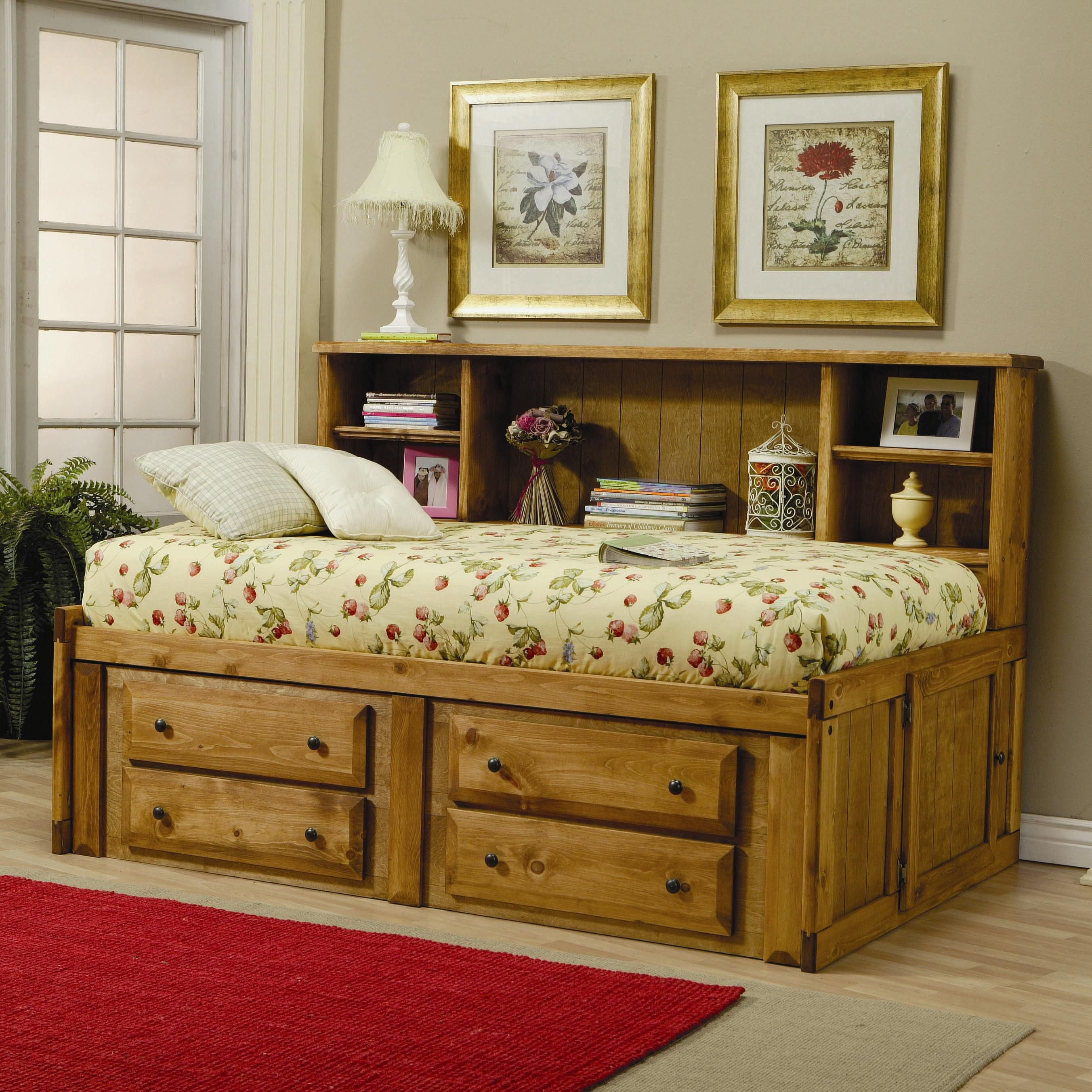 Wrangle Hill Twin Bookcase Bed with Under-Bed Storage | Teen boy ...