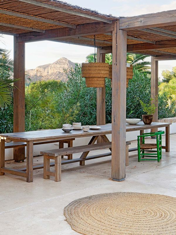 A Mediterranean Paradise On The Spanish Coast The Style Files Pergola Outdoor Outdoor Kitchen Countertops