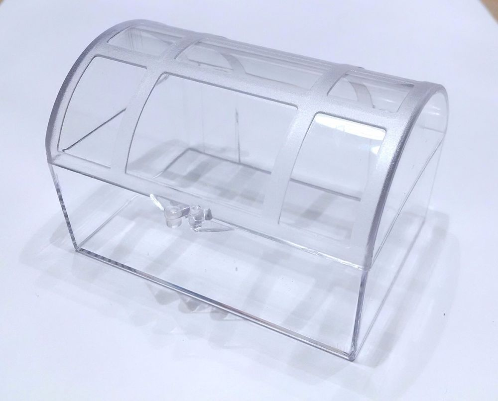 Clear plastic treasure chest favor boxespack of 6 ebay