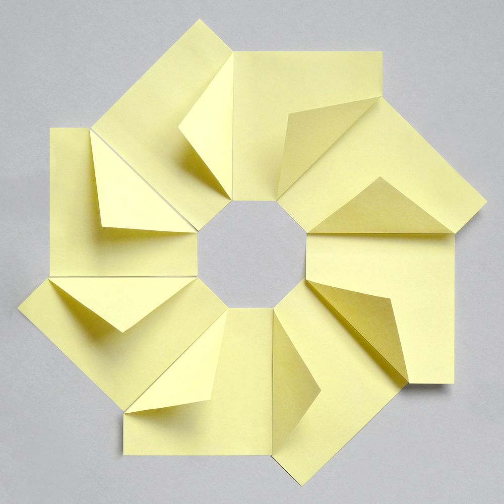 8 post its paper pinterest origami craft and paper folding stationery compositions 8 post it notes jeuxipadfo Images