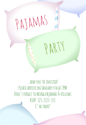 Sleepover party printable invitation template customize add text sleepover party free sleepover party invitation template greetings island filmwisefo Image collections