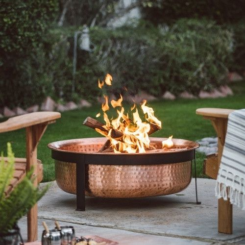 wood burning patio fire pits. Red Ember Eden Copper Wood Burning Fire Pit. Outdoor Patio Pits U
