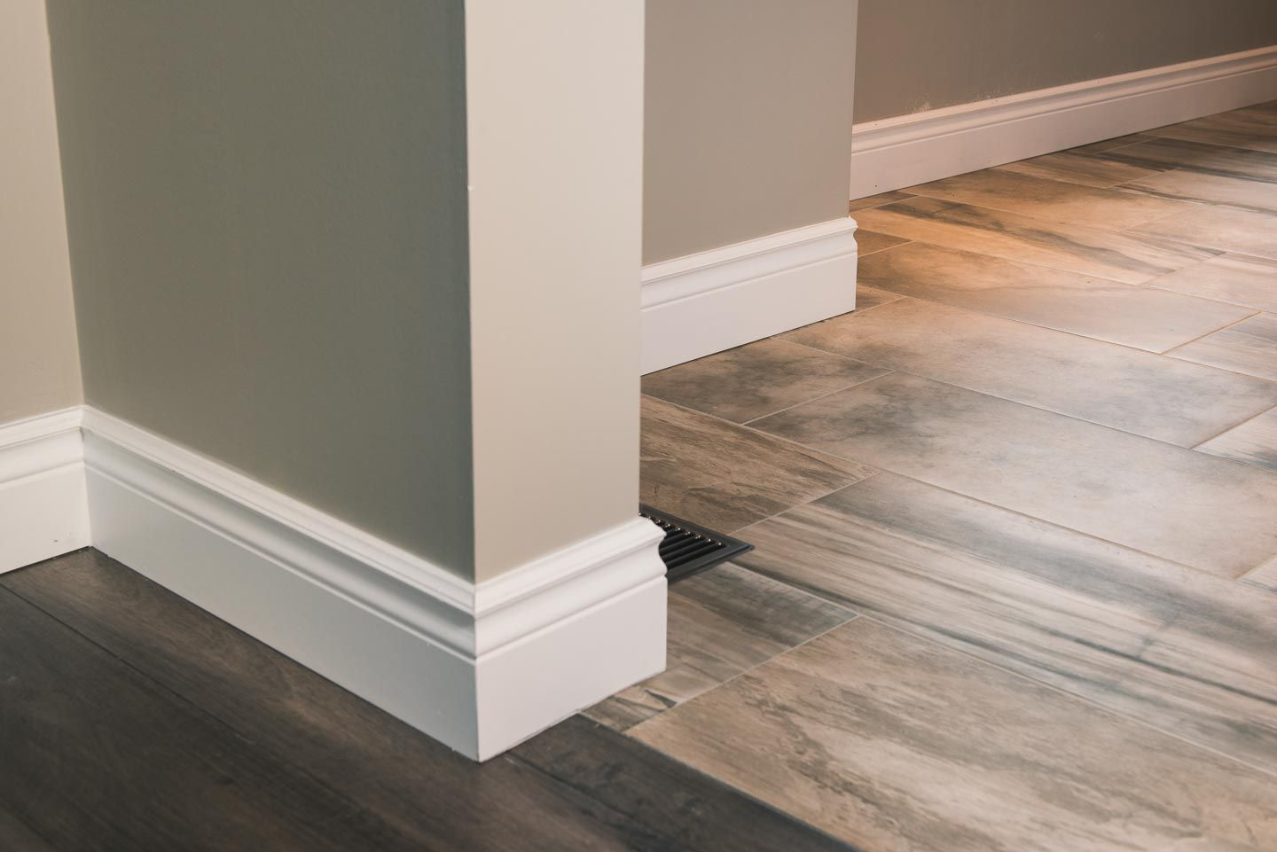 Our Large Colonial Baseboard Baseboards Home Tall Cabinet Storage