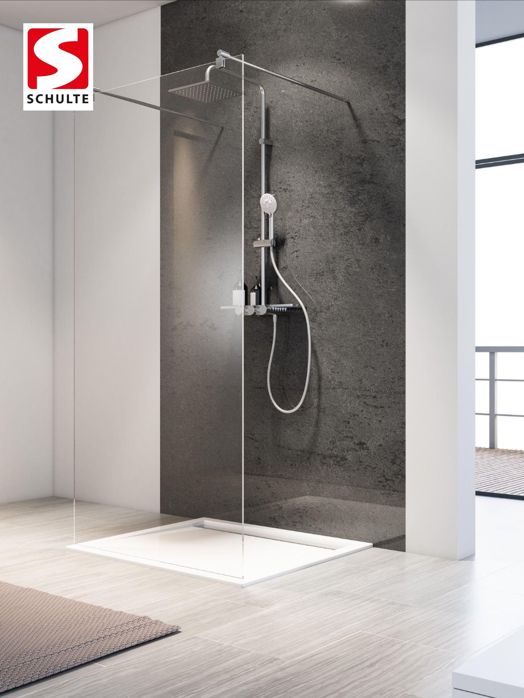 Schulte Duschkabine Individuell Davita Duschwand Walk In Freistehend In 2020 Duschkabine Dusche Duschwand