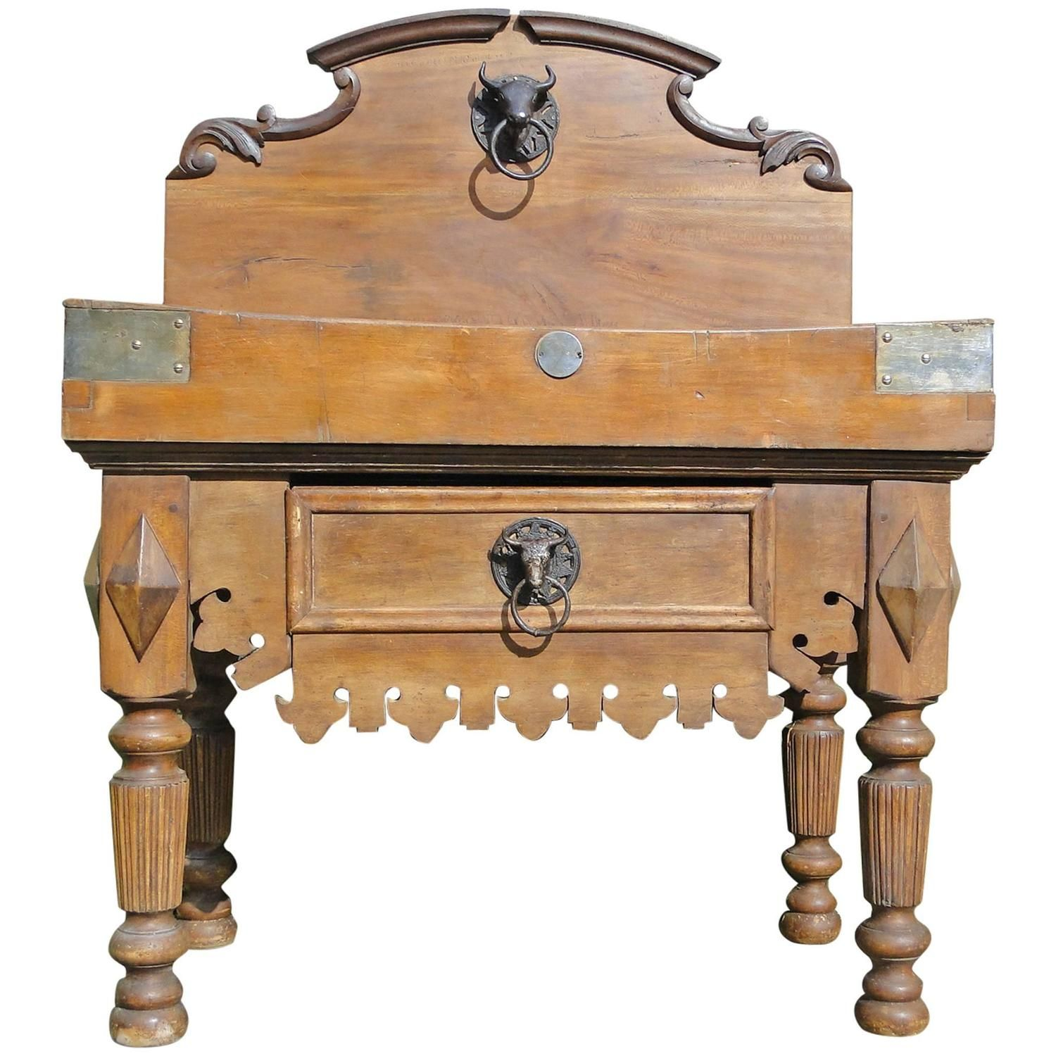 19th Century French Butcher Block From Paris