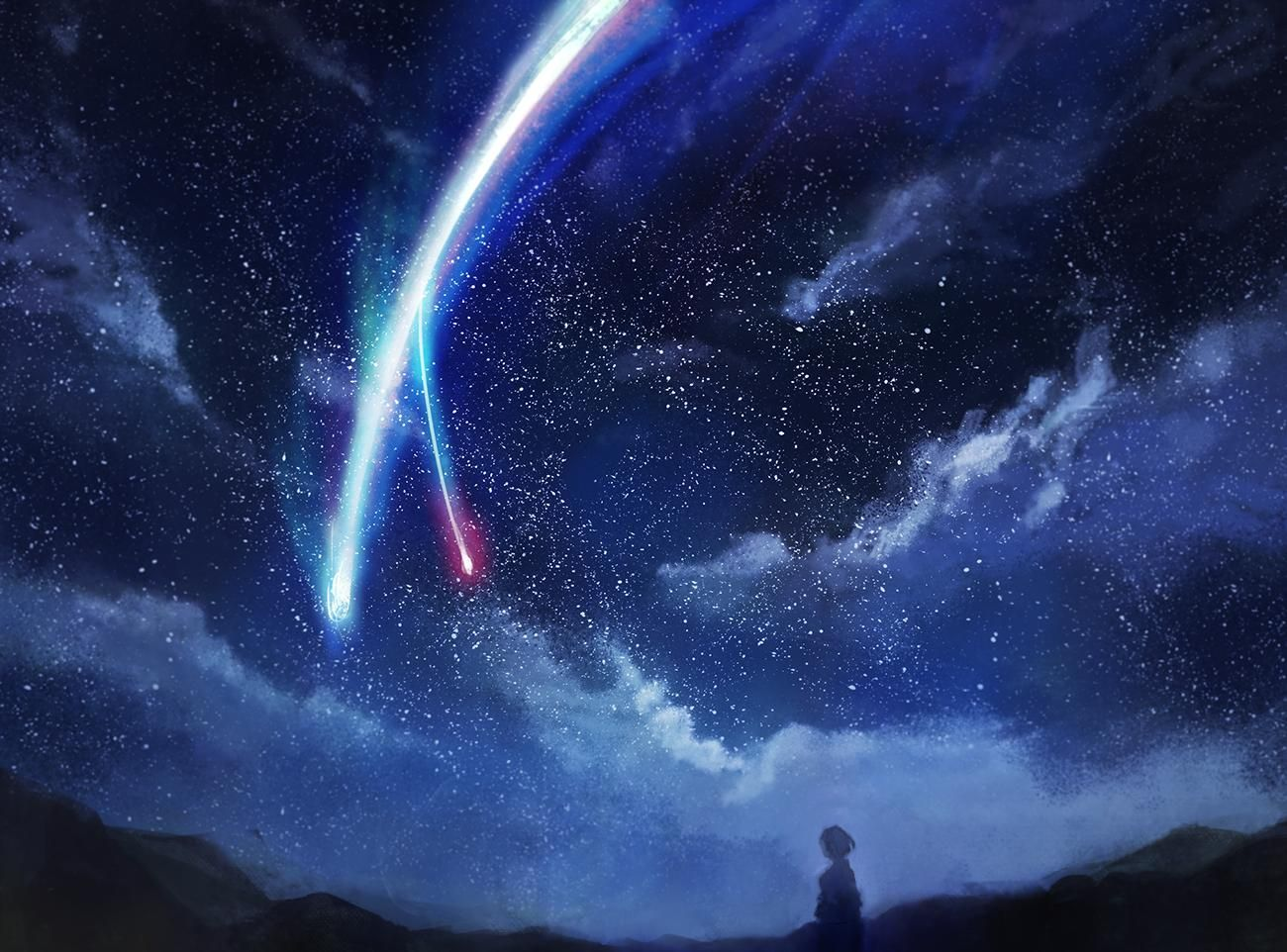 Comet in the night sky [Kimi no Na wa.] Kimi no na wa