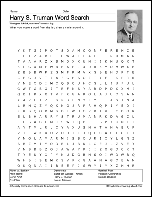 harry s truman worksheets and coloring pages