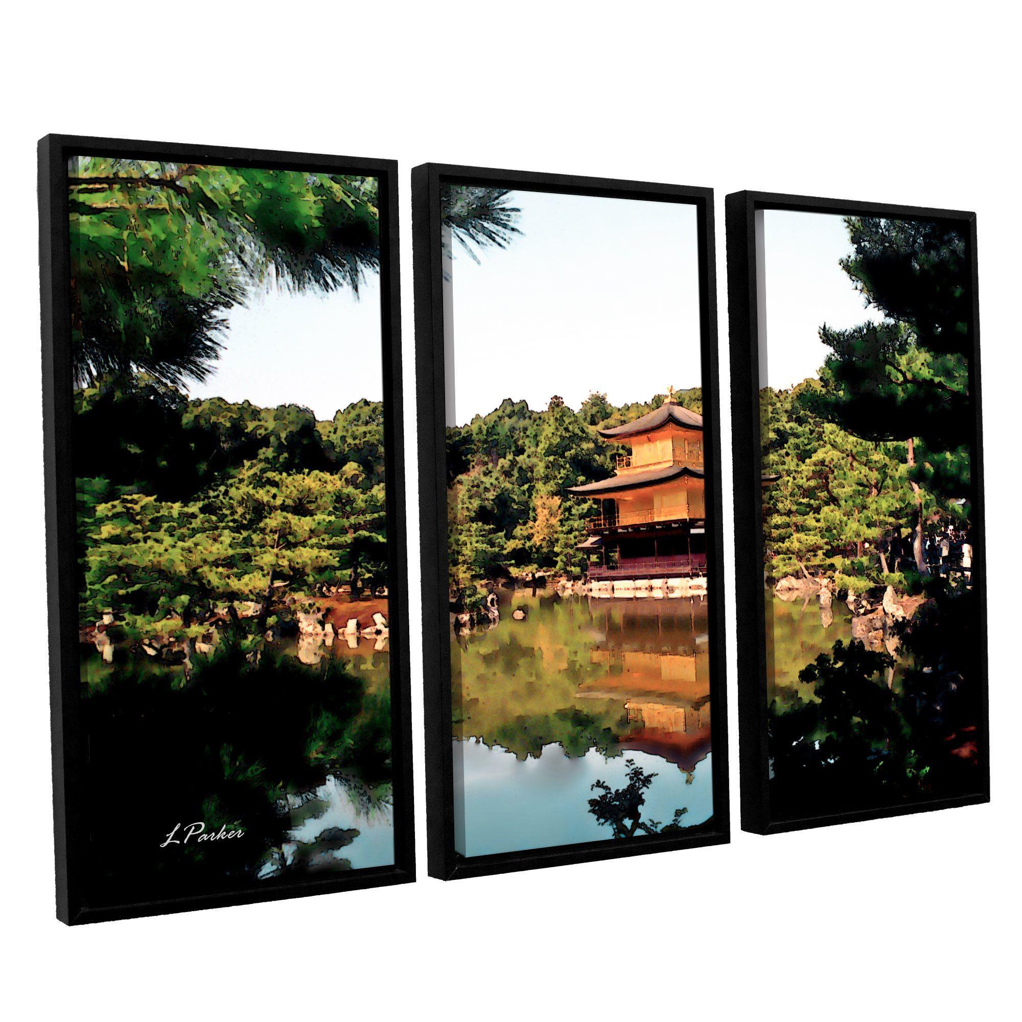Kinkakuji by linda parker piece floater framed photographic print