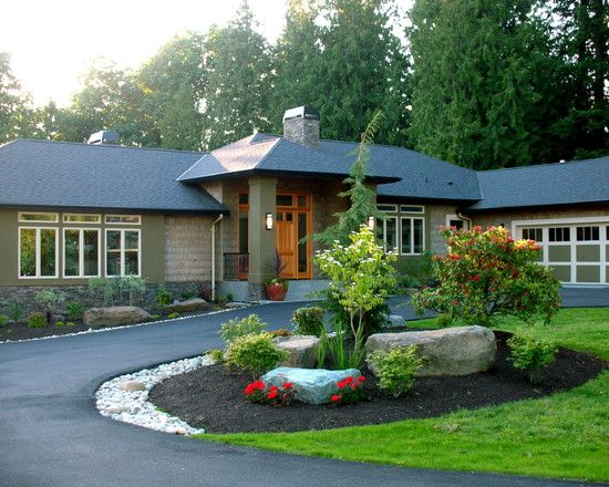 Circular driveway design pictures remodel decor and for Front yard renovation ideas