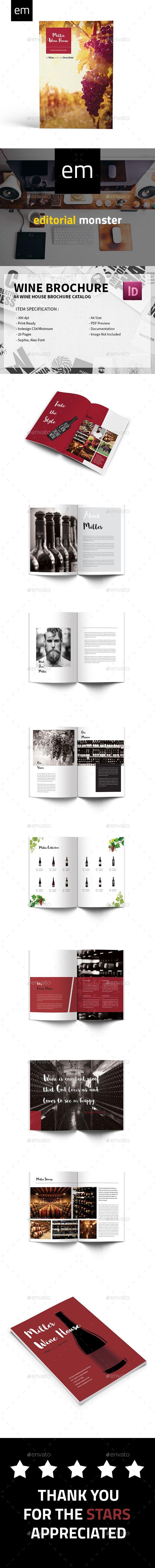 Wine Brochure Brochures Indesign Templates And Brochure Template