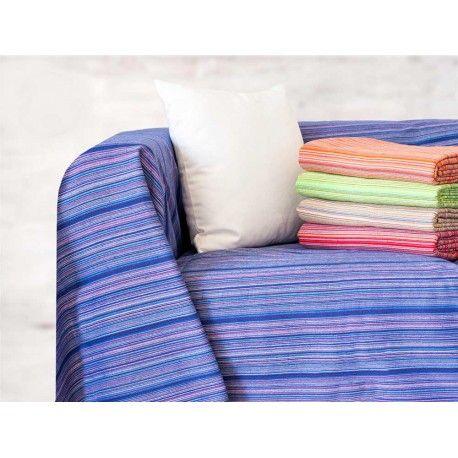 Foulard 334. Foulard 334 Foulard 334 de Brisa&Home. Composición: 90% algodón 10% reciclado. Diseño de rayas en colores Medidas: 230 x 250 cm. 5 colores azul, naranja, rojo, beig y verde.