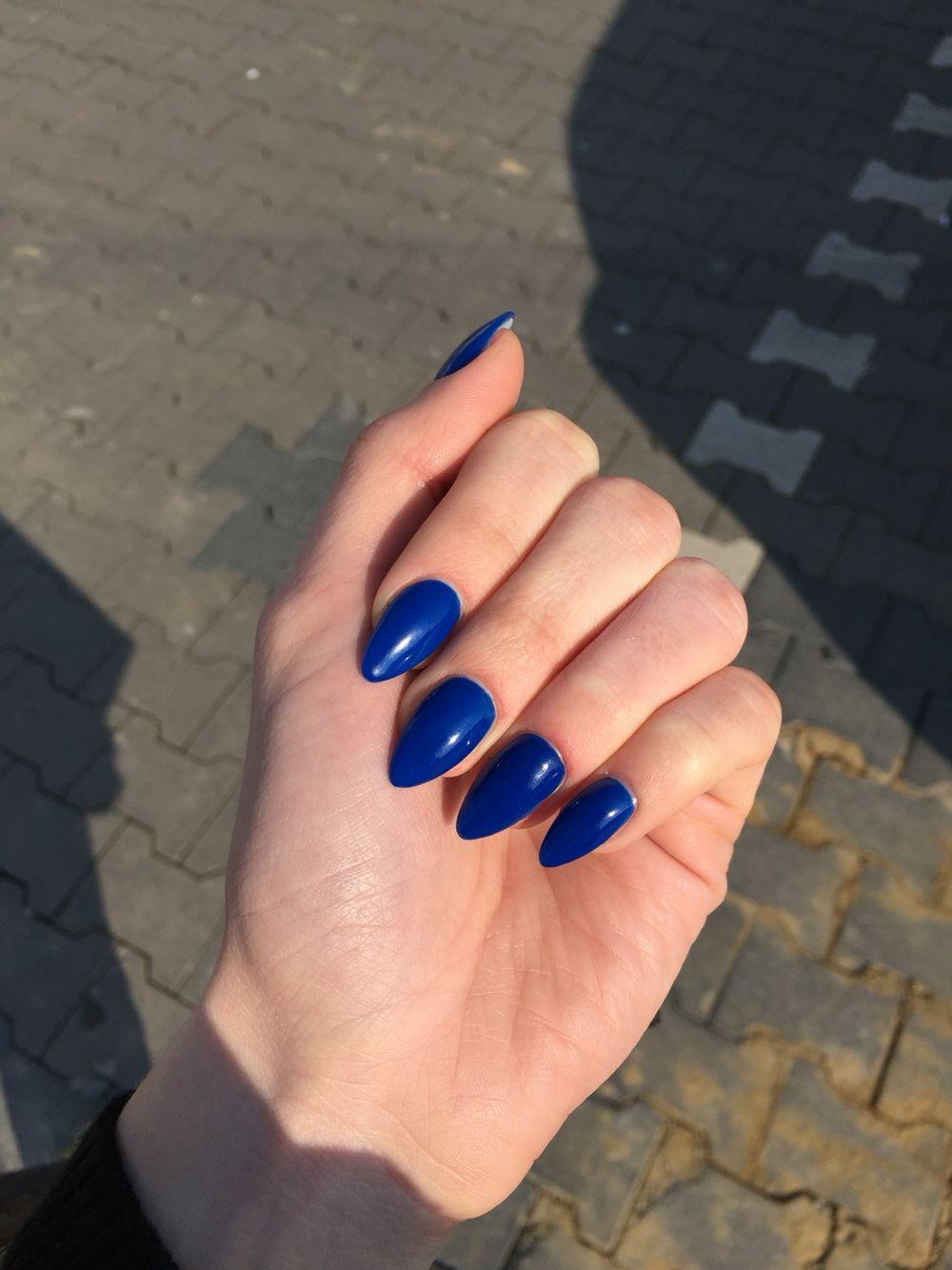 blau#spitz#gel#nägel   Nägel   Pinterest   Gel-Nägel, Nagelschere ...