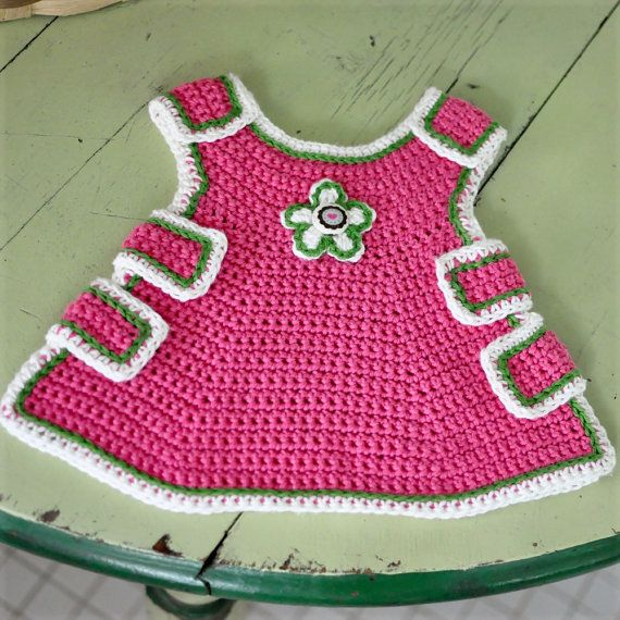 Crocheted Baby Pinafore Pattern PDF | Garn