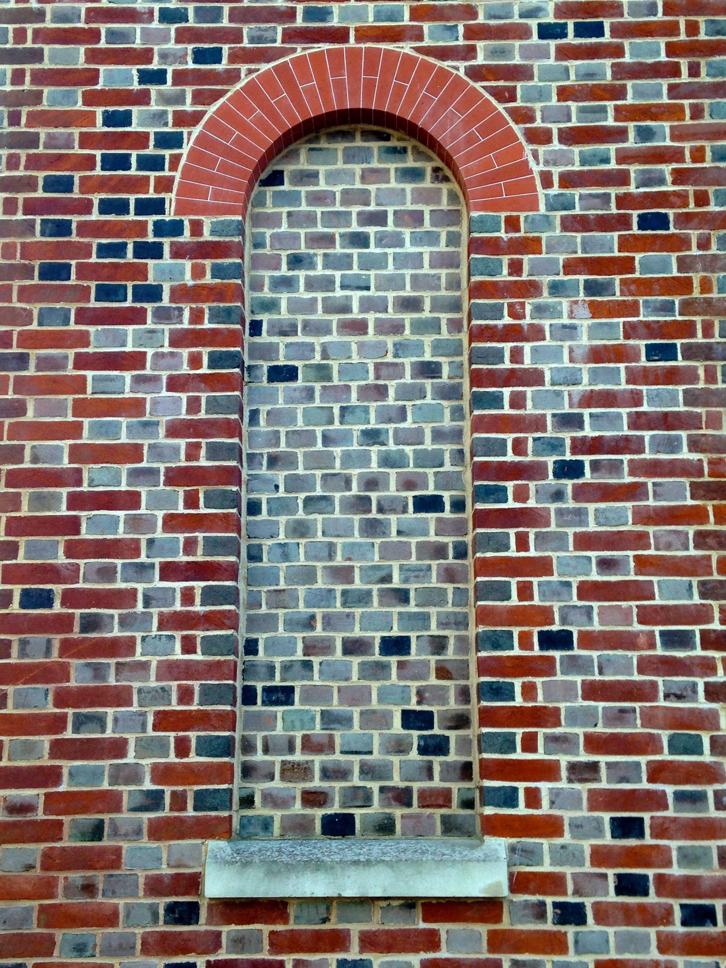 Header Bond Set Within Flemish Bond With Rubber Bricks