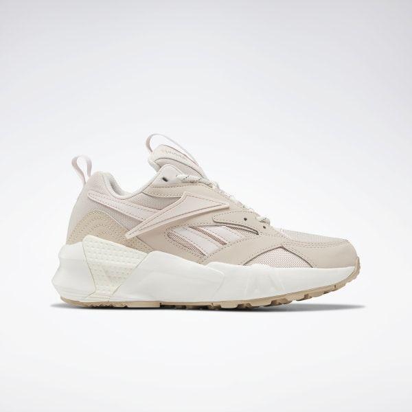 Reebok Shoes Women's Aztrek Double Nu Pops Women's Shoes in Beige/Pink/Chalk Size 10 - Retro Running Shoes #retropop