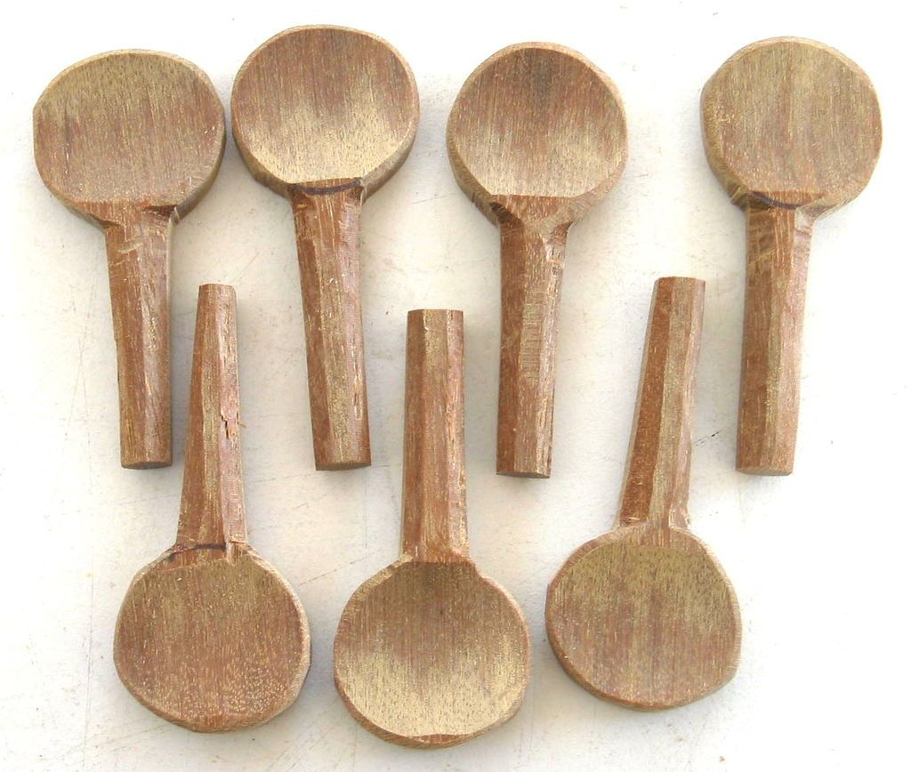 Cookie tin banjo part 3 make tuning pegs from scrap wood