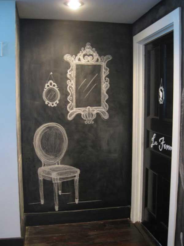 Enchanting Chalkboard for Entryway Decoration