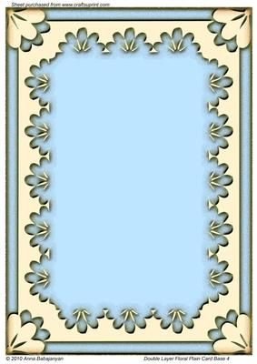 Cup beautiful plain card of aprox  size designed with my double layer floral frame also base cert templates pinterest rh