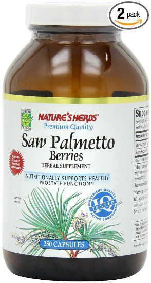Amazon.com: Twinlab Nature's Herbs Saw Palmetto Berries 1800mg, 250 Capsules (Pack of 2): Health & Personal Care