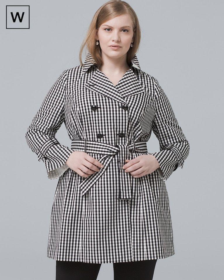 50cfae764f5 Women s Plus Gingham Trench Coat by White House Black Market