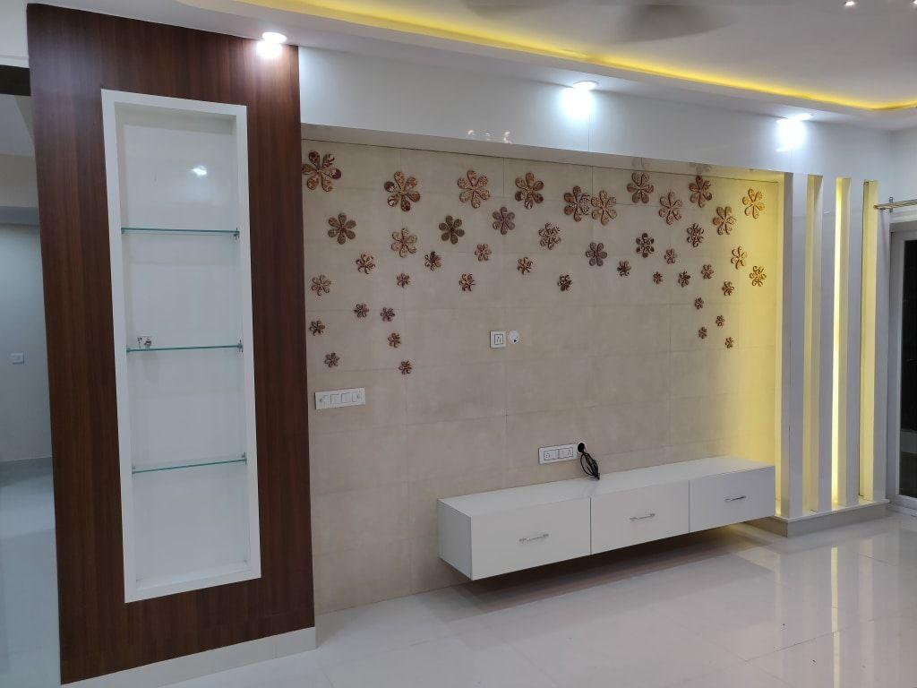 Mr Girish S Flat 3 Bhk Flat Noida Modern Living Room By Design
