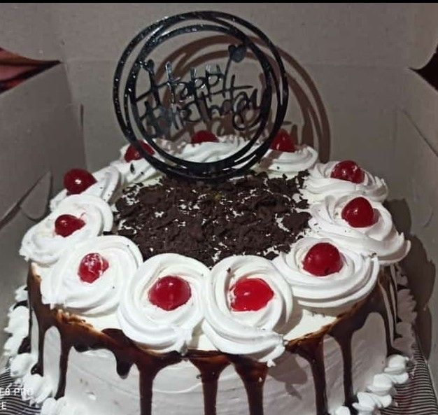 Blackforest cream cake with fresh cherry fruits....