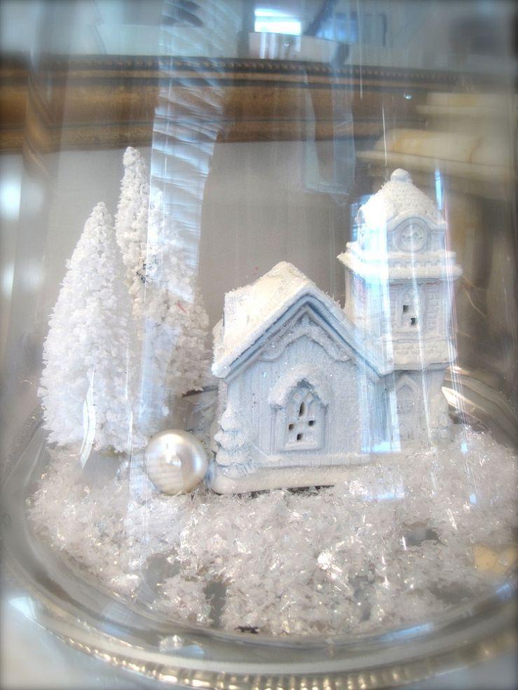 Winter Whitewashed Snow Village