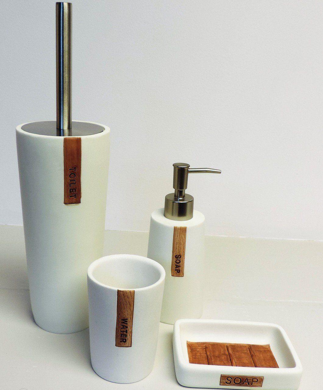 Amazon Com Bathroom Accessories Set Sealskin Pierra White Home