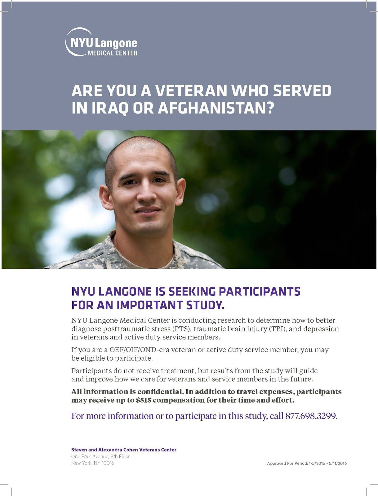 Nyu Langone Free Military Family Clinic Information Research For Post 9 11 Veterans Compensation Up To 515 Http Veteran Military Family Support Our Troops
